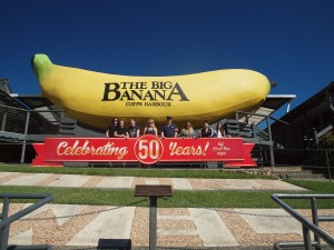Our little tour group outside the Big Banana